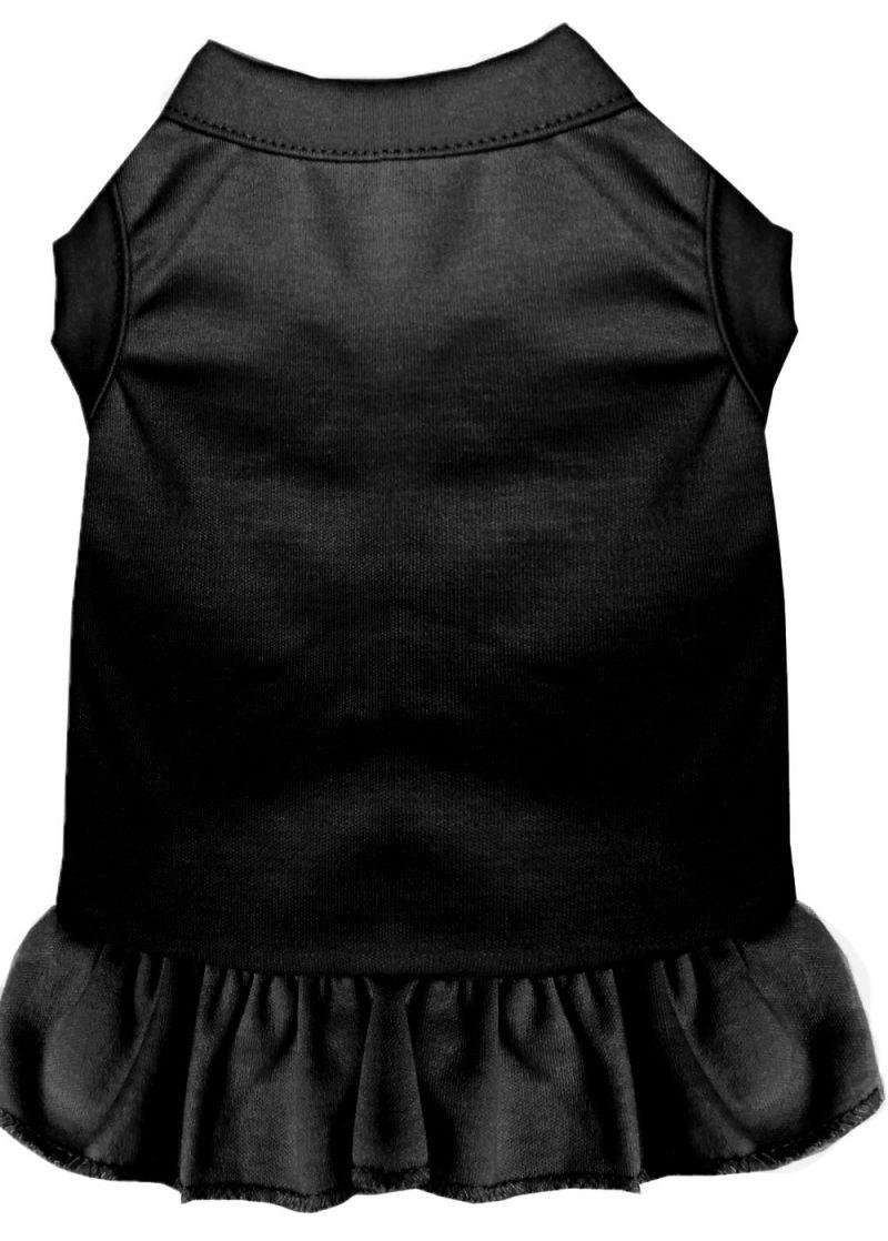 Plain Pet Dress Black Xs