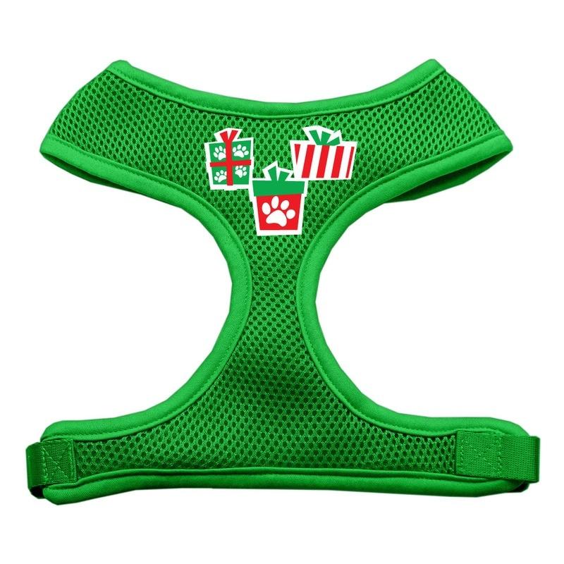 Presents Screen Print Soft Mesh Pet Harness Emerald Green Medium