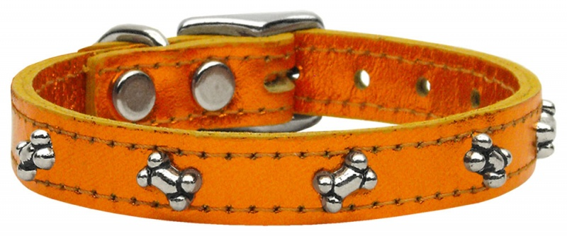 Heart Leather Dog Collar Red 16