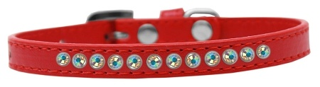 Ab Crystal Size 16 Red Puppy Collar