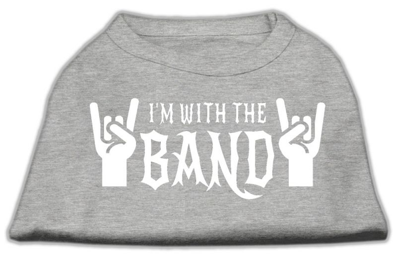 With The Band Screen Print Shirt Grey Xl