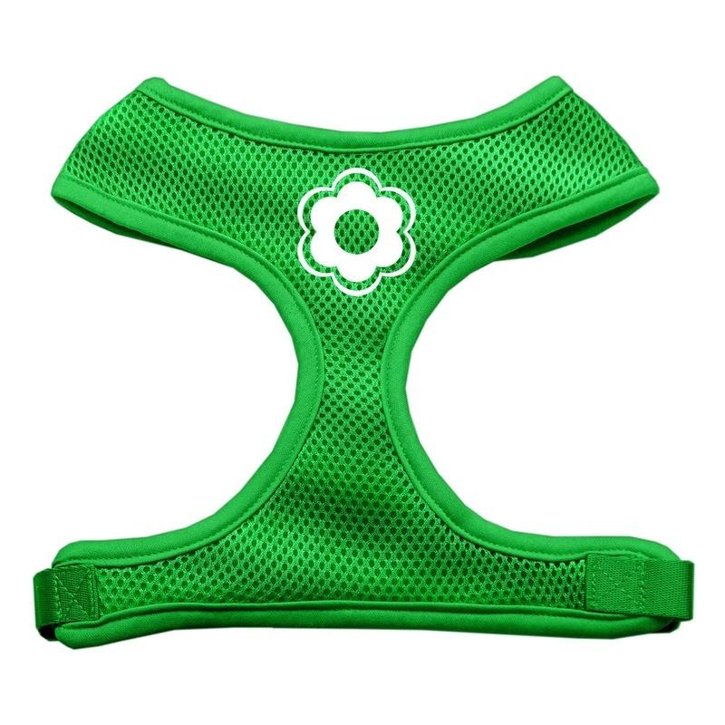 Daisy Design Soft Mesh Pet Harness Emerald Green Large