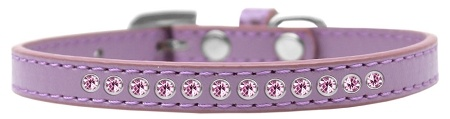 Light Pink Crystal Size 14 Lavender Puppy Collar