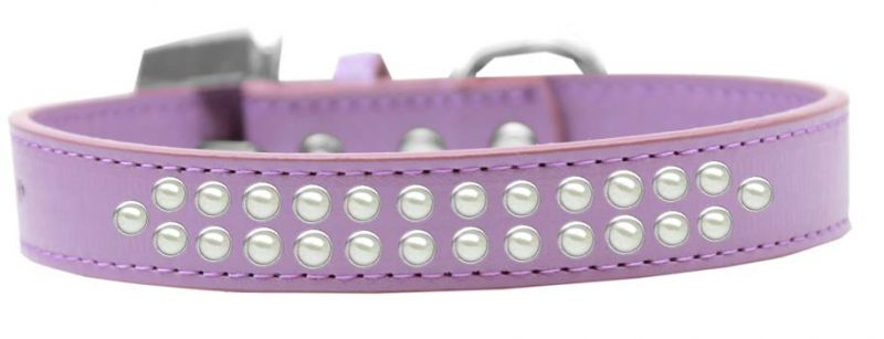 Two Row Pearl Size 20 Lavender Dog Collar
