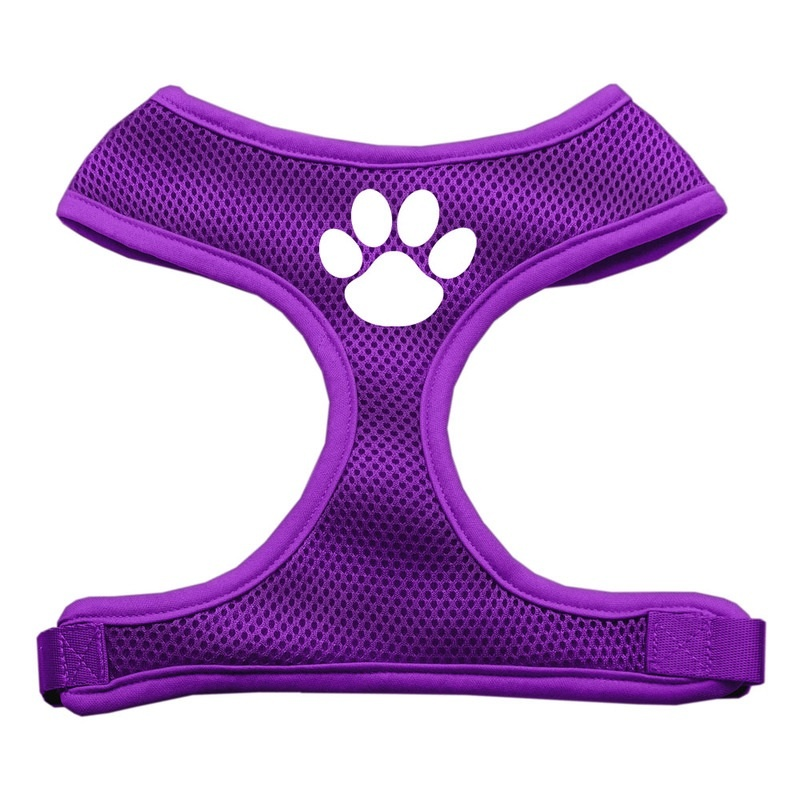 Paw Design Soft Mesh Pet Harness Purple Large