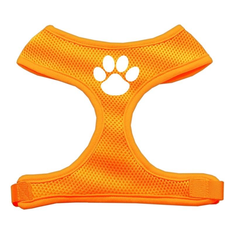 Paw Design Soft Mesh Pet Harness Orange Large