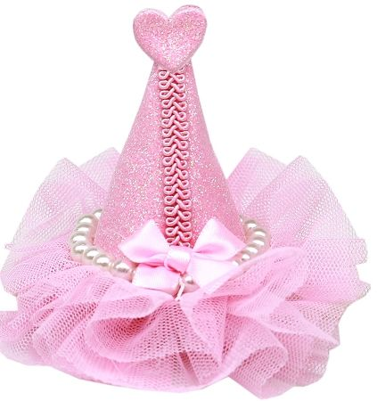 Pretty Party Hat Clip-On Light Pink