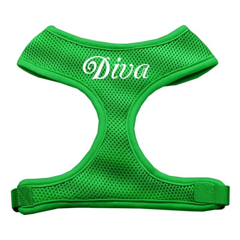 Diva Design Soft Mesh Pet Harness Emerald Green Large