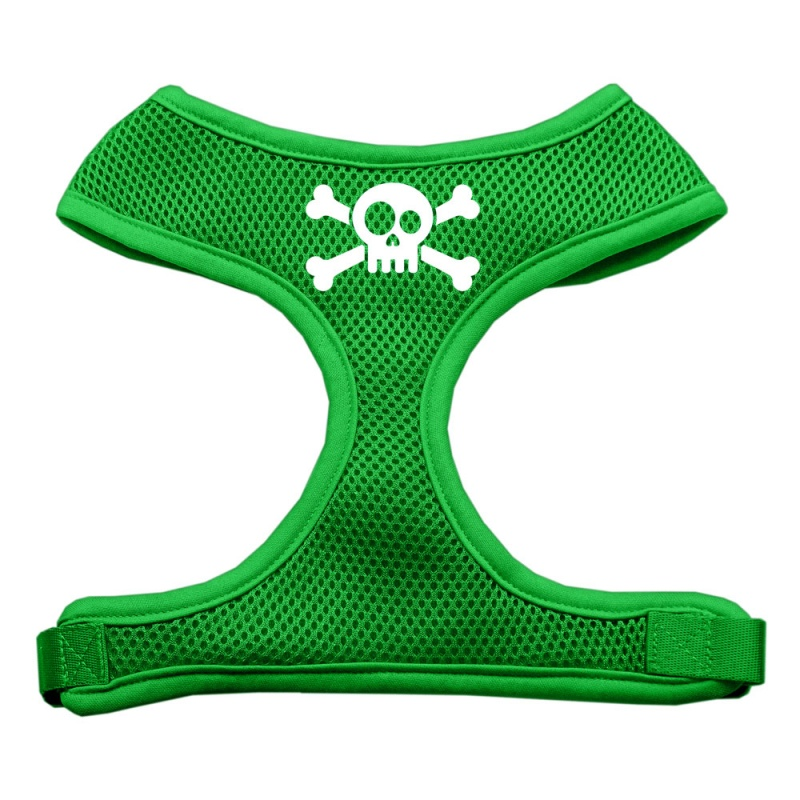 Bow Tie Screen Print Soft Mesh Pet Harness Red Small