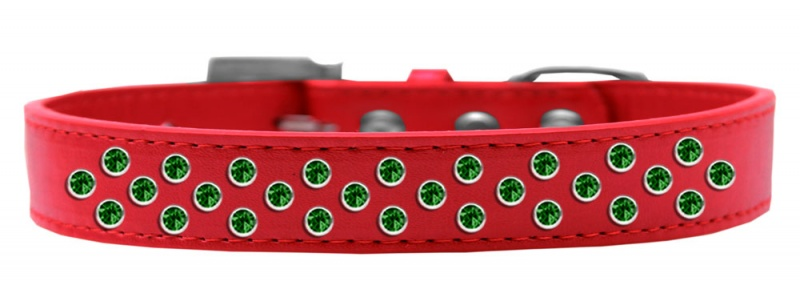 Two Row Ab Crystal Size 20 Red Ice Cream Dog Collar
