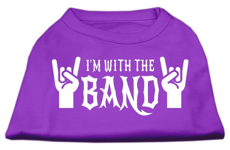 With The Band Screen Print Shirt Purple Lg