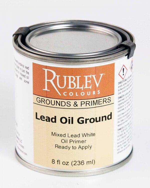 Lead Oil Ground 8 Fl Oz