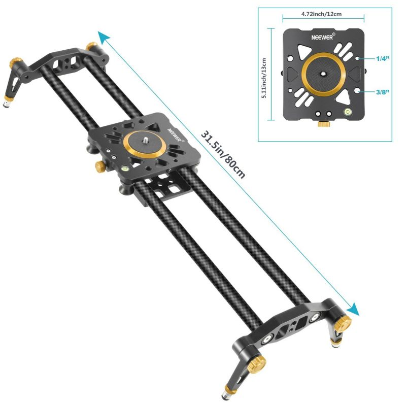 Neewer Carbon Fiber Camera Track Slider Video Stabilizer Rail With 6 Bearings For Dslr Camera Dv Video Camcorder Film Photography