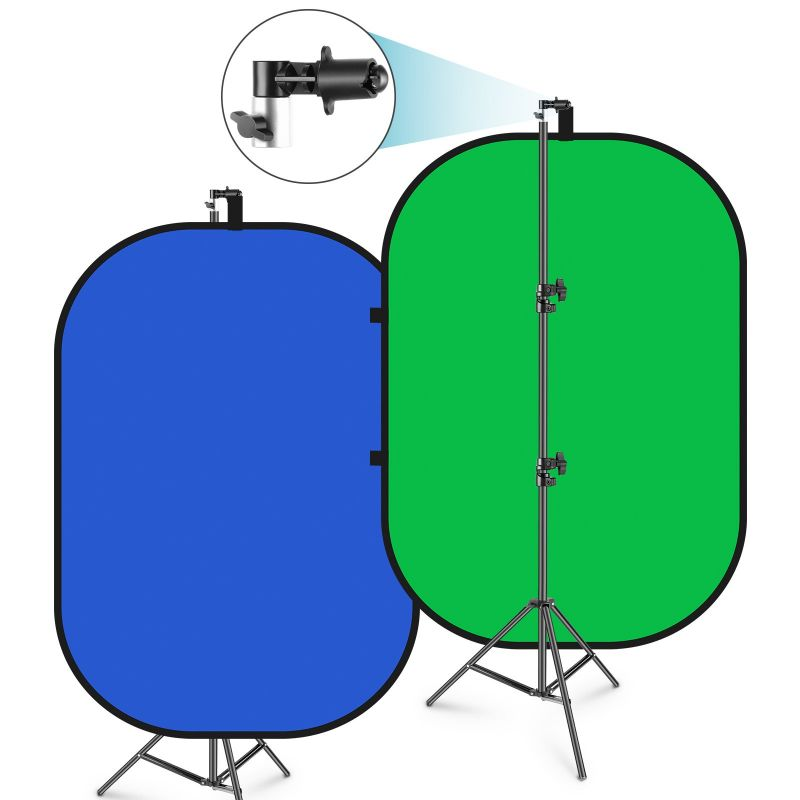 Neewer Chromakey Collapsible Backdrop Collapsible Reversible Background