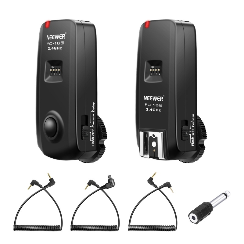 Neewer Fc-16 3-in-1 2.4ghz Wireless Flash Trigger With Remote Shutter