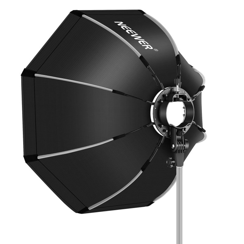 Neewer 26 Inches/65cm Octagonal Softbox With S-type Bracket Mount, Carrying Case
