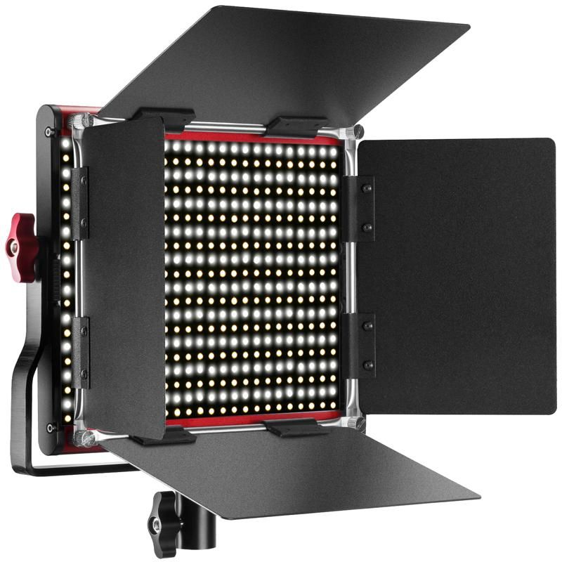 Neewer Red Dimmable Bi-Color 660 Led Video Light With U Bracket And Barndoor