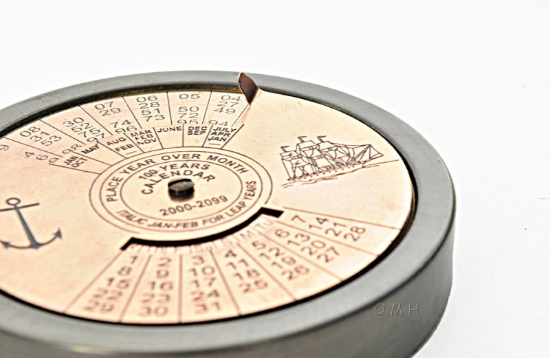 100 Year Calendar & Compass Quote Set Of 2