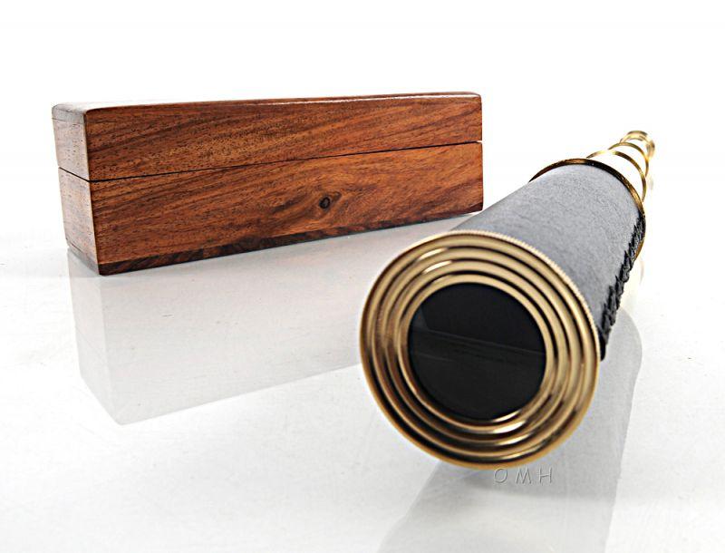 Handheld Telescope In Wood Box