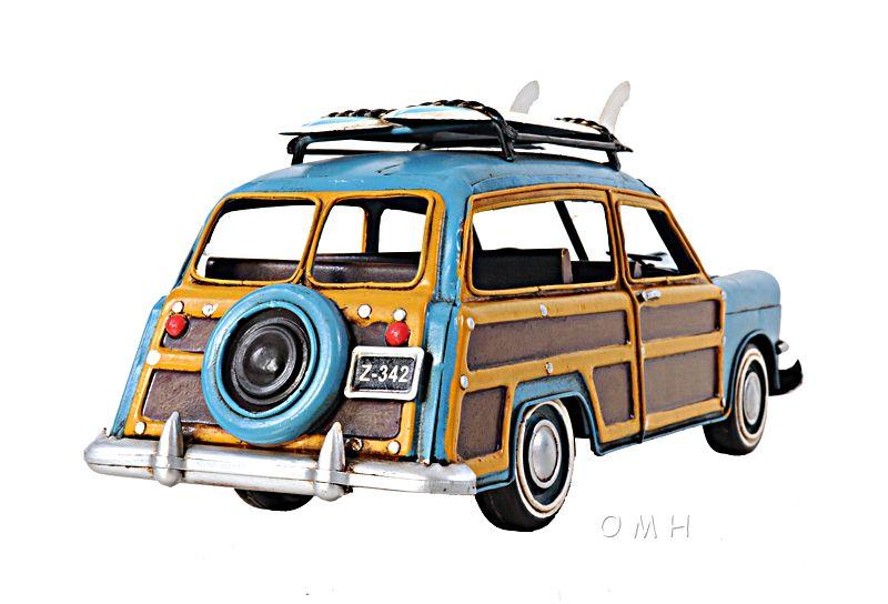 1949 Ford Wagon Car W/Two Surfboard