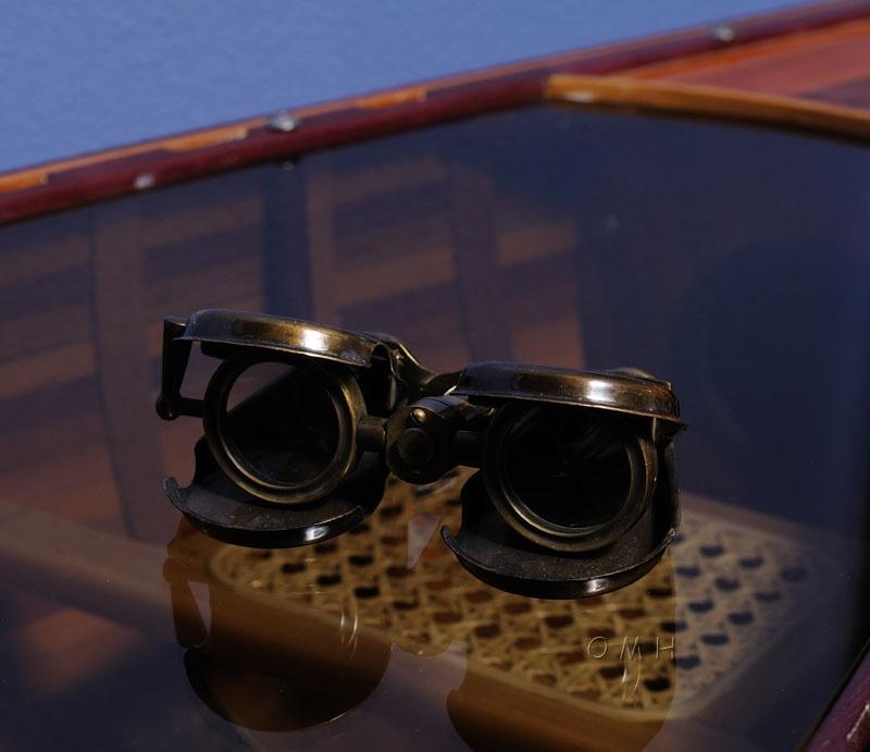 Folding Binocular In Wood Box