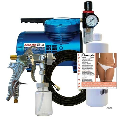 Paasche D200T Quick Application Tanning Set with Compressor
