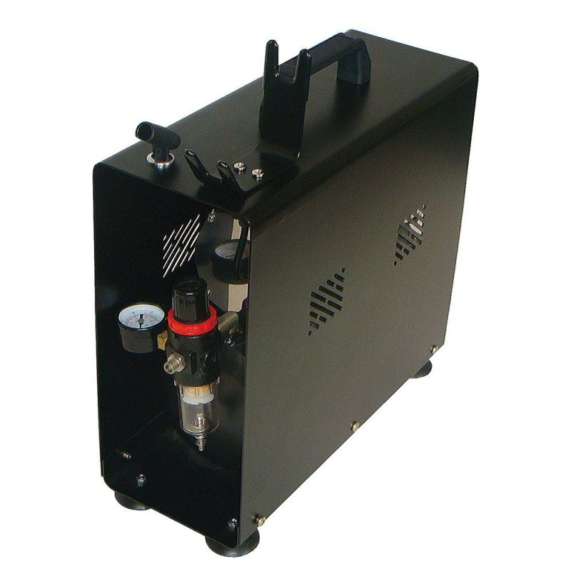 Paasche DC600R Air Compressor (1/4 HP) with Tank, Case and Regulator: 1/4 HP, with auto shutoff