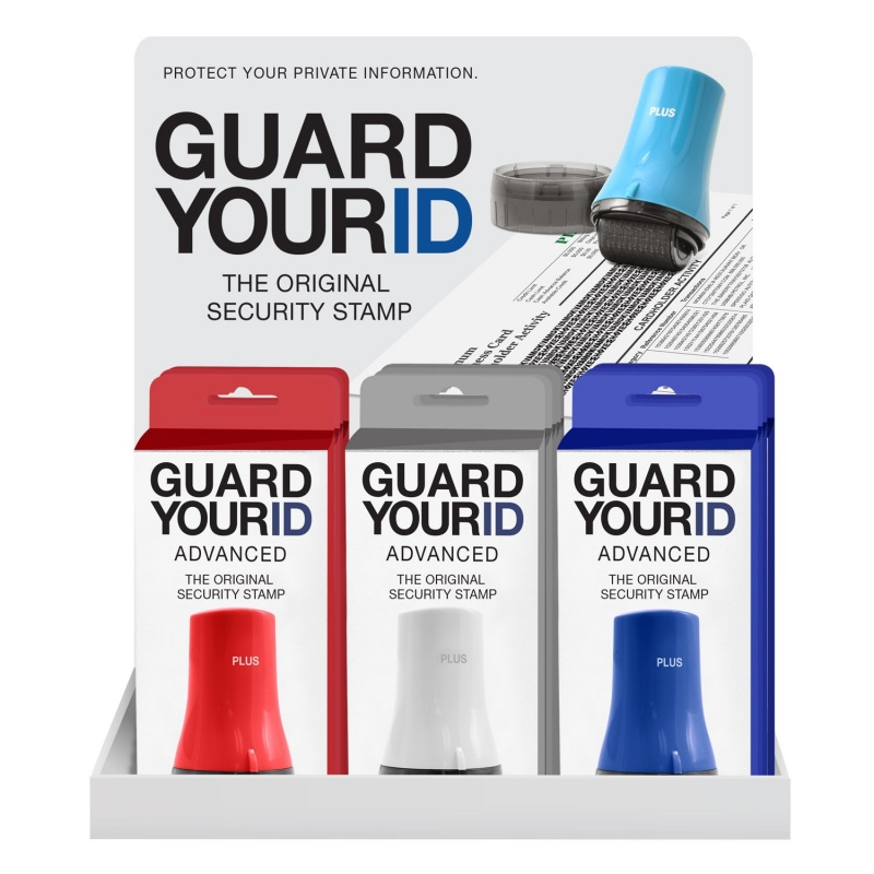 Guard Your Id Advanced Wide Roller 12 Unit Filled Display Assorted Colors