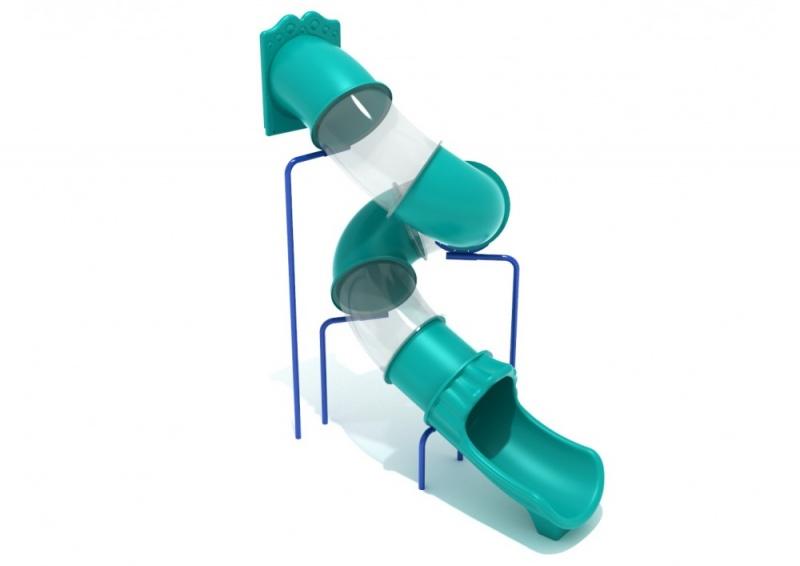 11 Foot Spiral Tube Slide - Slide And Mounts Only