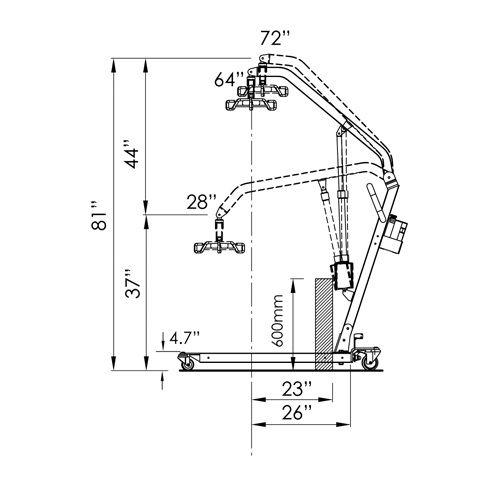 Electric Full Body Lift, 600Lb