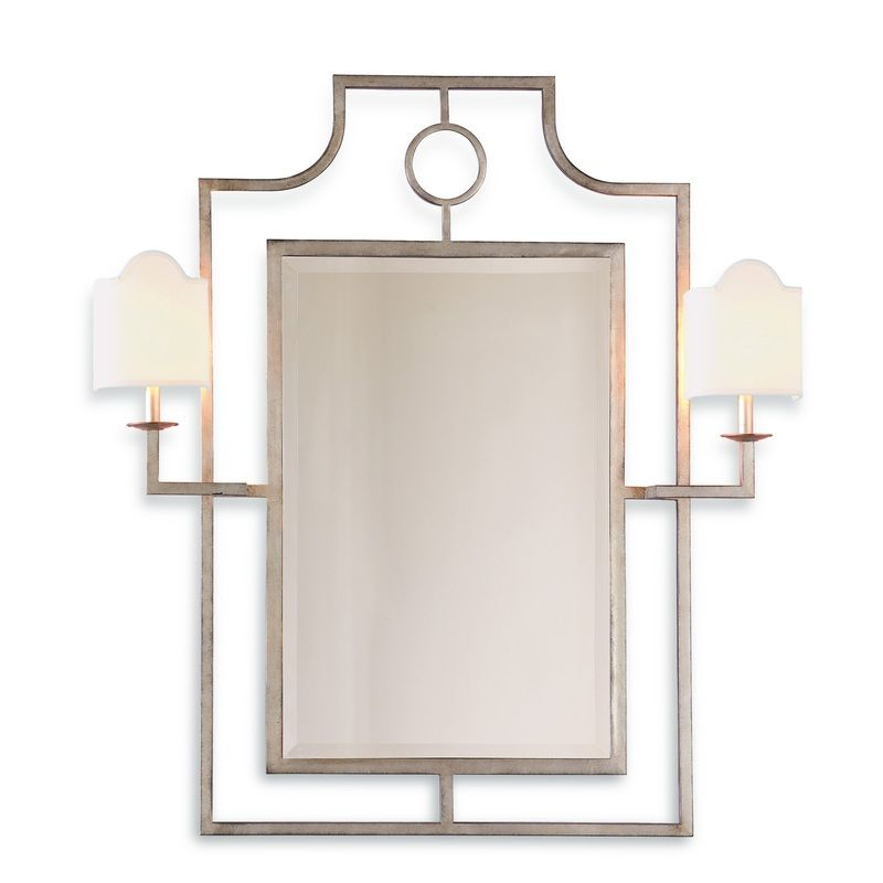 Doheny Silver Mirror W/Sconces