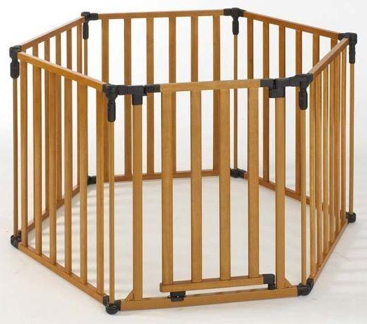 3-in-1 Wood Superyard Pet Pen 6 Panel