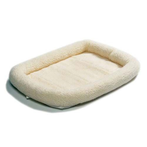 Quiet Time Fleece Dog Crate Bed