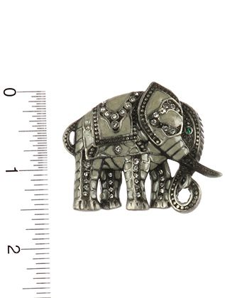 Epoxy Coated Metal Elephant Pave Crystal Stone