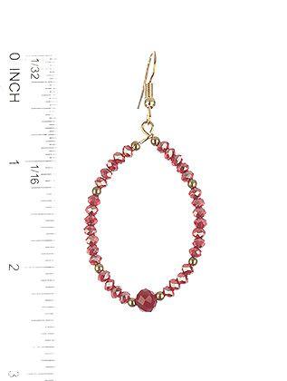 Iridescent Beaded Wire Oval Ring Metallic Bead