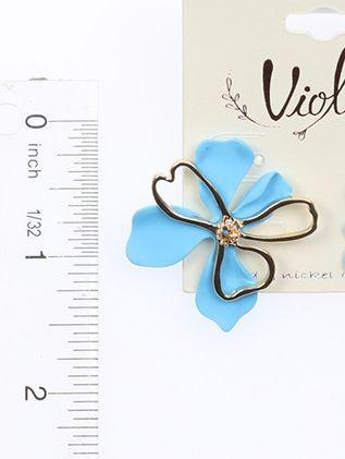 Flower Matte Rubber Coating Post Pin