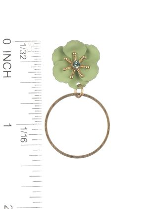 Epoxy Coated Metal Flower Dangle Ring