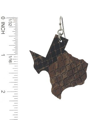 State Of Texas Faux Leather Snake Skin