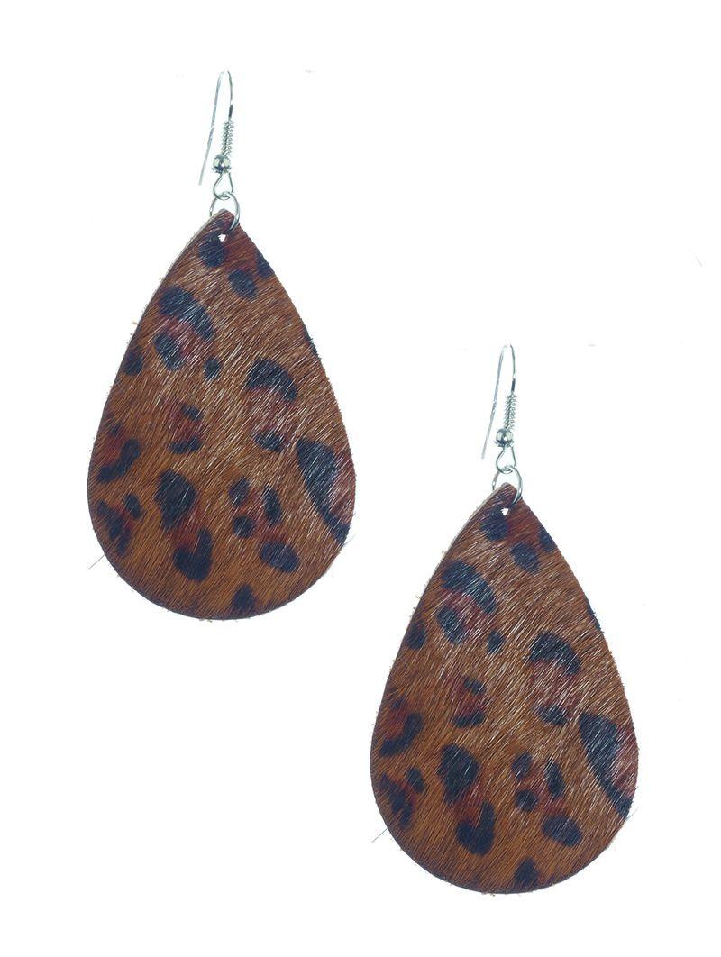 Fish Hook Animal Print Leather