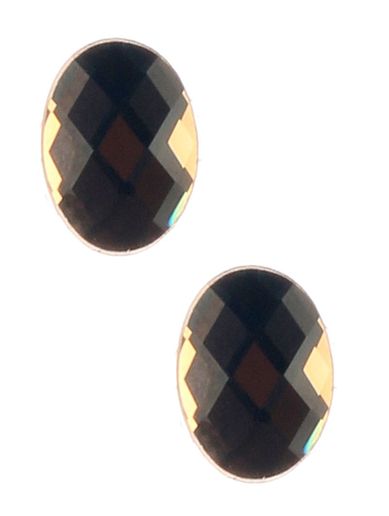 Faceted Lucite Stone Oval Stud Post Pin