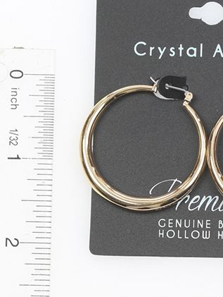 Hollow Hoop 40Mm Round Shape High Quality Plating