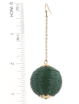 Color Cord Wrapped Chunky Ball Chain Drop Fish Hook