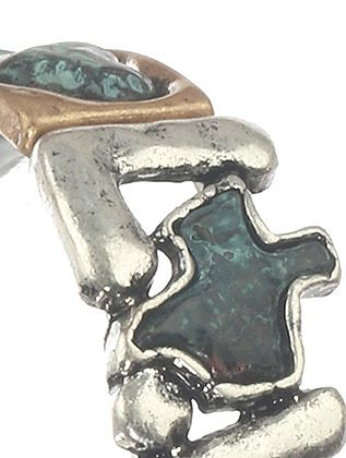 Aged Finish Metal Texas Love Stretch Heart