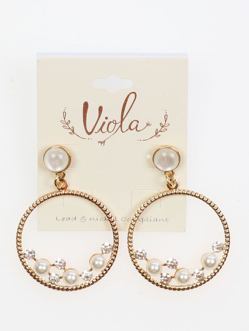 Round Shape Pearl Crystal Stone