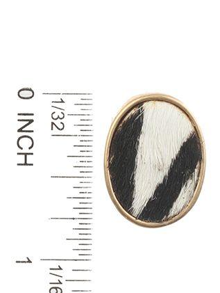 Animal Print Post Pin Oval