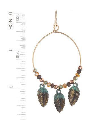 Fish Hook Crystal Stone Bead
