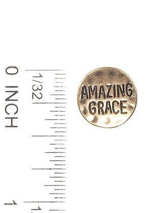Matte Finish Round Metal Message Amazing Grace