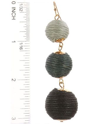 Color Cord Wrapped Chunky Ball Trio Fish Hook