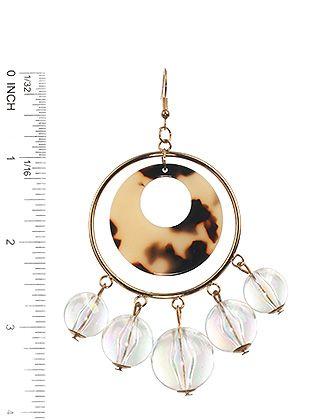 Iridescent Ball Charm Acrylic Ring Marble Finish
