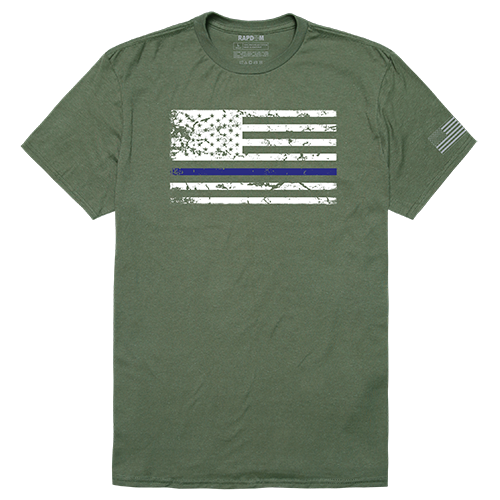 Tacticalgraphic T,Thin Blue Line,Olv, Xl